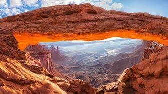 The Mesa Arch in Canyonlands National Park Moab Utah USA