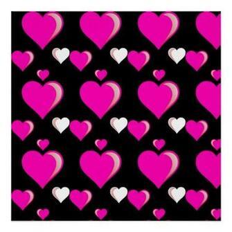 Hot Pink And Black Hearts Hot pink and black hearts