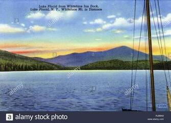 Lake Placid NY USA   from Whiteface Inn Dock with Whiteface