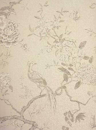 Oriental Bird Wallpaper Beautiful bird and branch design wallpaper in