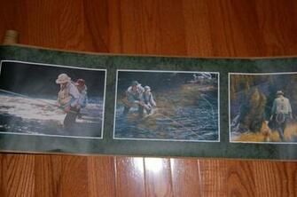 Fishing Father Son Outdoors Country Man Cave Wallpaper Border eBay