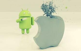 1440x900 Apple vs Android desktop PC and Mac wallpaper