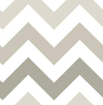 NuWallpaper Wall Pops NU1416 Taupe Zig Zag Peel and Stick Peel