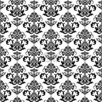 Black And Gold Damask Wallpaper Seamless black and white