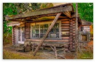 Tiny The Little Log Cabin HD wallpaper for Wide 1610 53 Widescreen