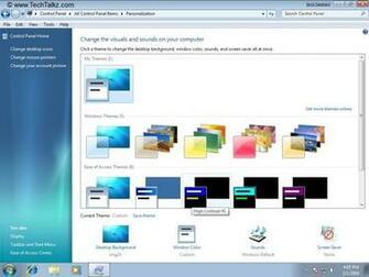under Windows Themes 5 to change the Desktop background Window