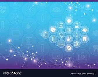 Abstract medical background with health care icons