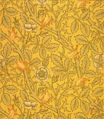 Bird Wallpaper Design painting   William Morris Bird Wallpaper Design