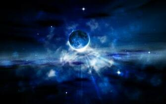 Pictures hd wallpapers 1440x900 space 3d fantasy blue space hd desktop