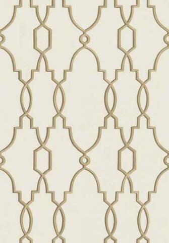 Parterre Trellis Wallpaper A delicate trellis design inspired by the