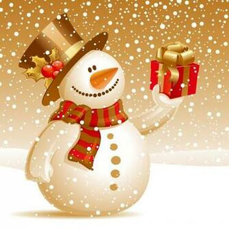 iPad Wallpapers Download Christmas Snowman iPad mini Wallpapers