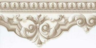 Interior Place   Beige Crown Molding Wallpaper Border 1299 http