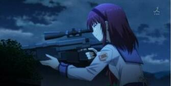 anime girl sniper wallpaper   ForWallpapercom