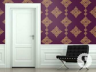 wallpaper in this purple and gold color shown called Royal Purple