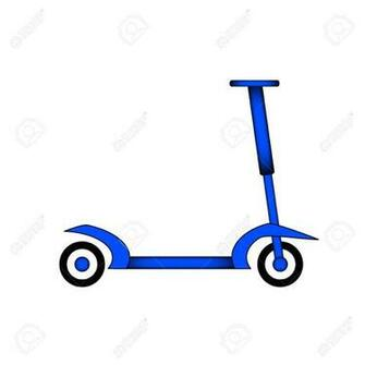Kick Scooter Icon On White Background Vector Illustration