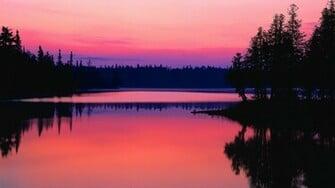 Pink Dark Water Reflection Nature HD Wallpaper 2844 HD Wallpaper