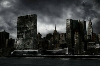Destroyed City by Nation17 Destroyed City Background