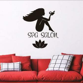 Amazoncom ponana Spa Salon Wallpaper Sticker PVC Removable Lotus