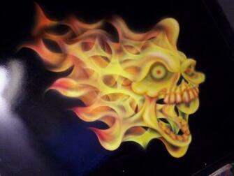 flaming skull Wallpaper   ForWallpapercom