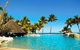 hotels Fiji islands resort relaxation sea beaches wallpaper background