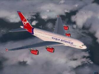 wallpapers Virgin Atlantic Airbus A380 800 in flight Flight Simulator