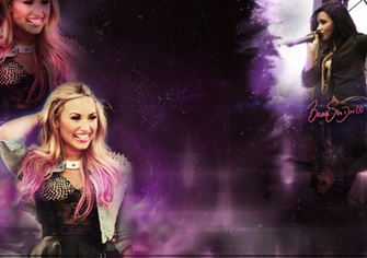 Background Twitter   Demi Lovato by BrunaDM