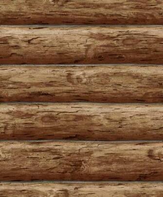 Details about Wallpaper Designer Rustic Log Cabin Brown Wood Log Wall
