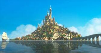 Rapunzels Castle from Disneys Tangled Desktop Wallpaper