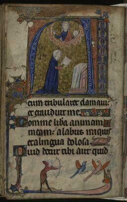 The Gradual Psalms   historiated initial   f149v   The