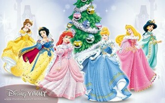 Download Wallpapers Backgrounds   Xmas Disney Princess Wallpaper