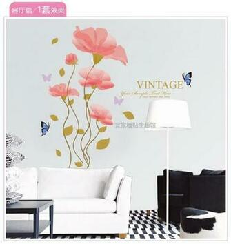 shipping wholesale removable wall stickers wallpaper romantic
