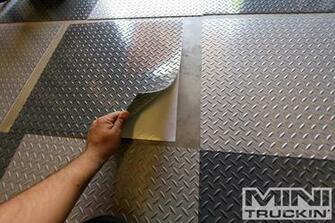 Removing Tile Adhesive Backing