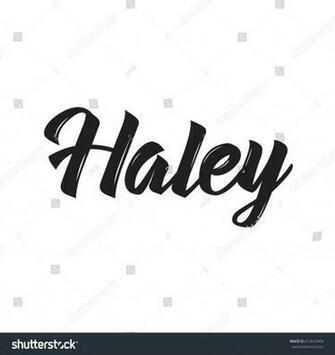 Haley Text Design Vector Calligraphy Typography Vector de stock