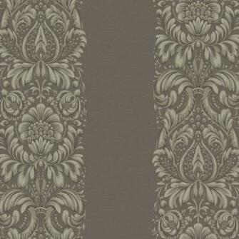 Purple and Taupe Stripe Damask Wallpaper   Wall Sticker Outlet