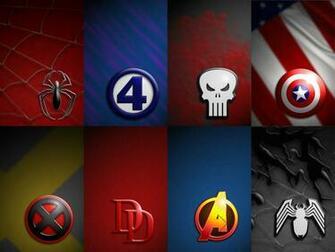 Marvel Logos Wallpaper Pack by BadlyDrawnDuck