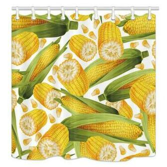 Amazoncom Farmhouse Vegetables Wallpaper Shower Curtains Nature
