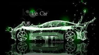Ice Water Car Green Neon 2013 HD Wallpapers design by Tony Kokhan [www