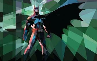 Batman comics superheroes iPad low poly 2560x1600