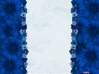 Pretty Blue Flowers Blogger Layout Template amp Blog