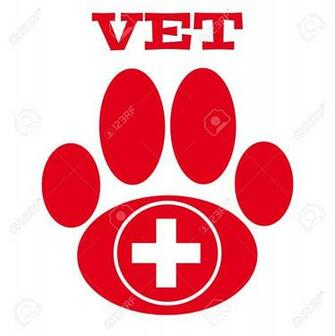 Red Vet Symbol On White Background Vector Illustration Royalty