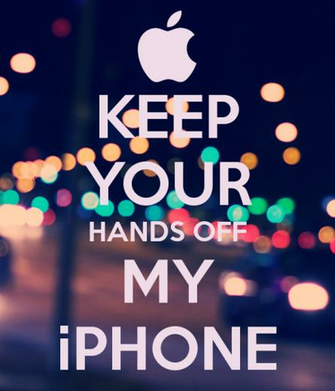 KEEP YOUR HANDS OFF MY iPHONE   KEEP CALM AND CARRY ON Image Generator
