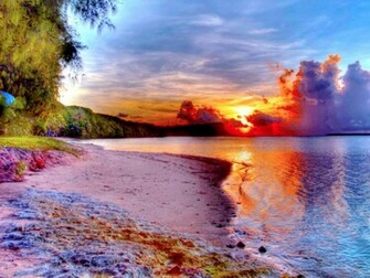 Beautiful Beach Sunset One HD Wallpaper Pictures Backgrounds FREE