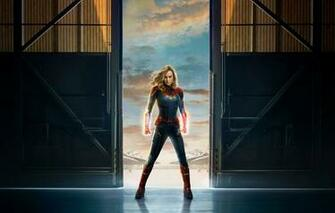 Wallpaper Film Carol Danvers Captain Marvel Brie Larson 2019