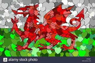 Welsh Dragon Wallpaper Stock Photos Welsh Dragon Wallpaper Stock