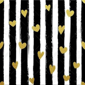 Glitter Gold Striped Wallpaper Paint Brush Strokes Background