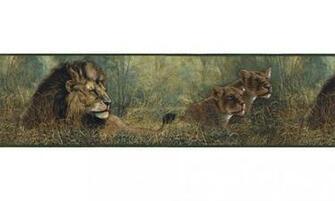 Home Animal Borders Wild Cats Animals Wallpaper Border B76464