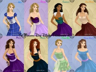 The Modern Day Disney Princesses 2 by nickelbackloverxoxox on