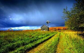 Beautiful Farm House Windmill Hd Wallpaper Wallpaper List