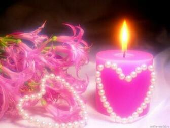Desktop Wallpapers Pink Valentines Day Candle Desktop Backgrounds