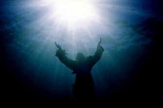 Christ of the Abyss wallpaper image sunlight